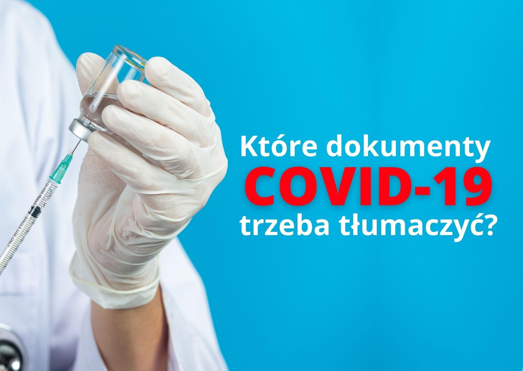 Tłumaczenia przysięgłe COVID 19